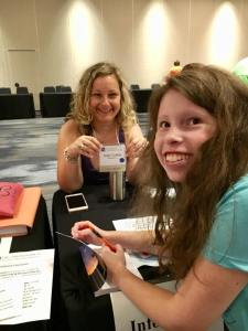 Chromosome 18 Conference 2018 Baltimore Maryland 7.1.18 #60 Lillian signing books