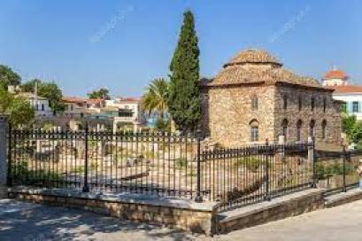 Athens. Roman Agora and Turkish Mosque — Stock Photo © vvr #39041947