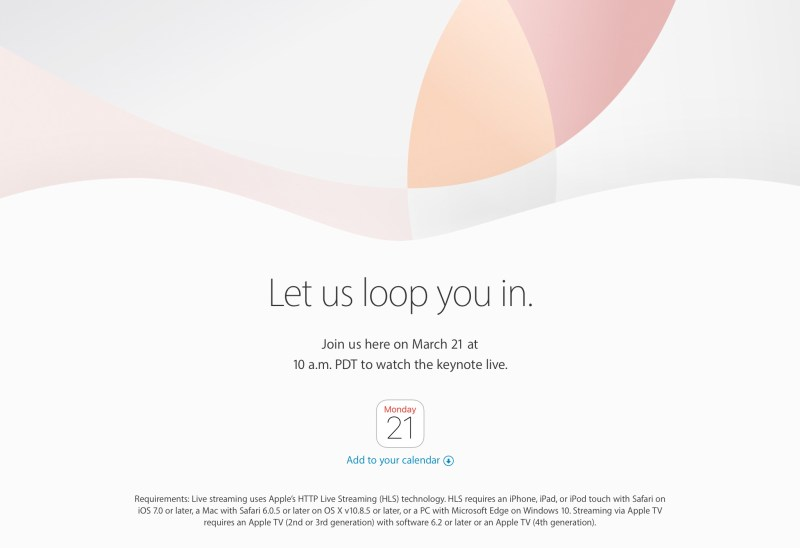 Apple Event - March Keynote