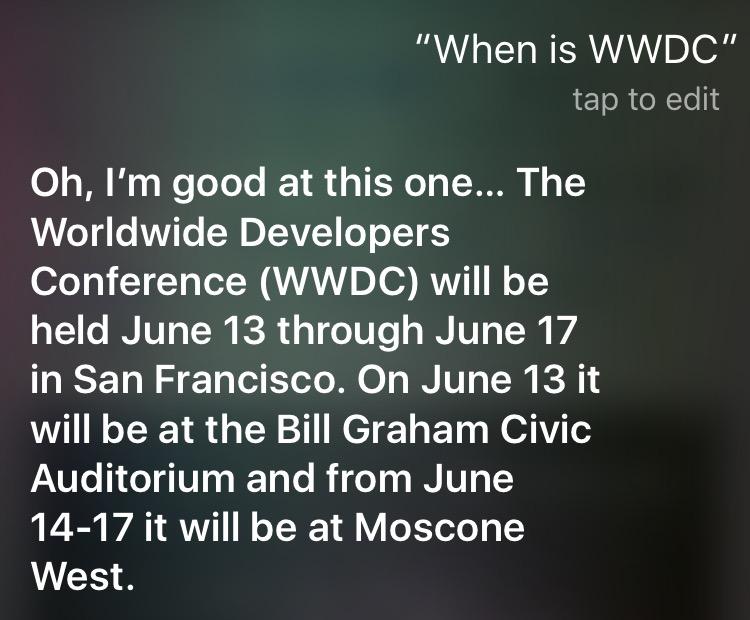 WWDC (Siri)