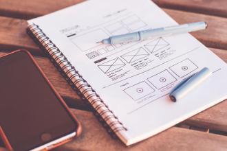 webdesign on paper