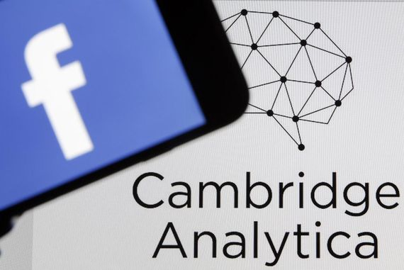 Cambridge Analytica and Facebook logos