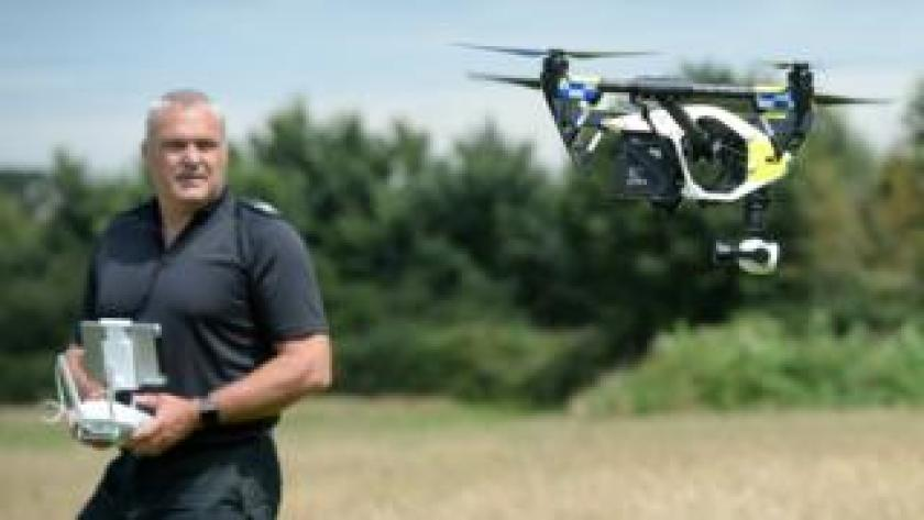 A police drone