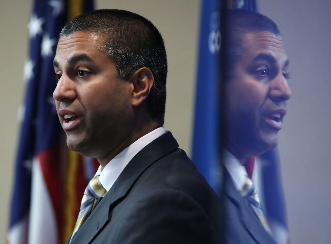 FCC Chairman Pai Attends News Conference On Providing Low Cost Student Internet
