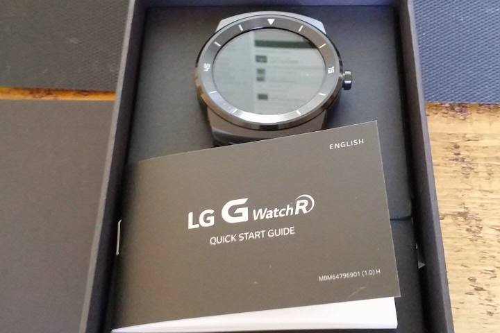 LG G Watch R Smart Watch In A Box