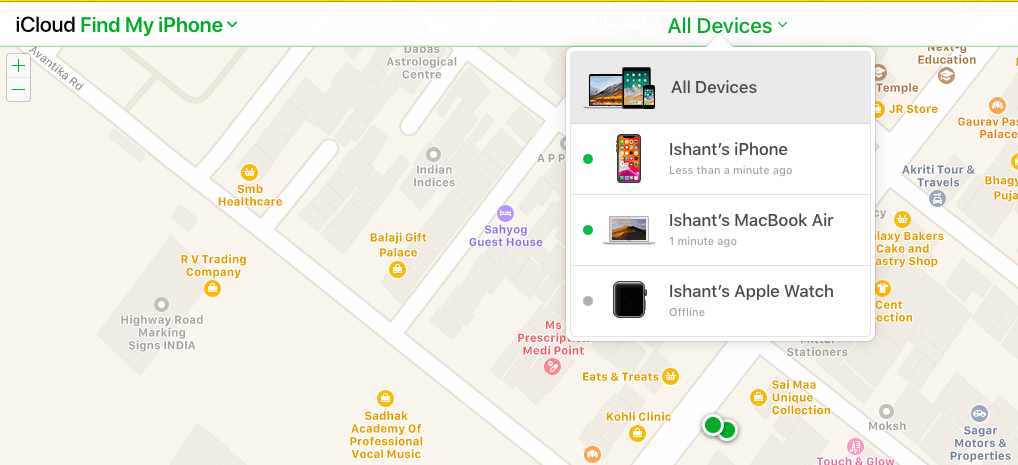 Find my iPhone from Computer