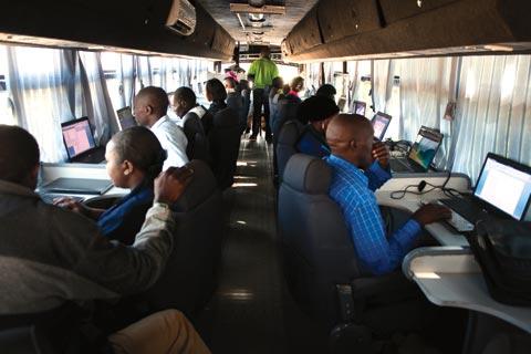 An ICT bus in Rwanda
