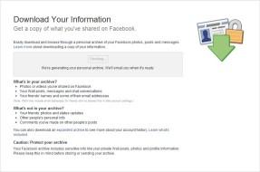Facebook Archive Pending