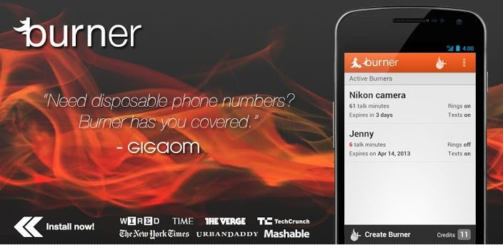 Make Private Calls, Texts and Disposable Numbers in Android using Burner