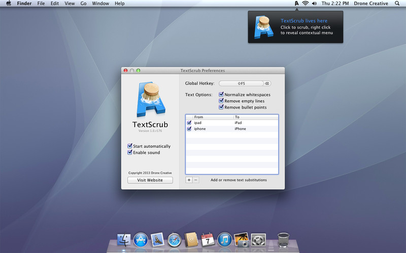 TextScrub UI