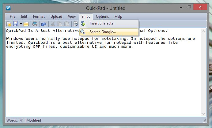 QuickPad Search