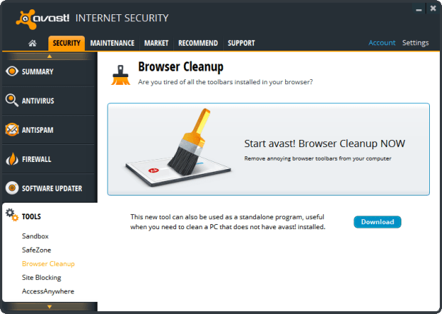 Remove Unwanted Toolbars From Browsers Using Avast Browser Cleanup thetechhacker