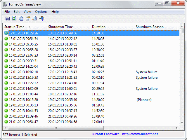 Consolidate Event Log Of Your Windows With TurnedOnTimesView thetechhacker