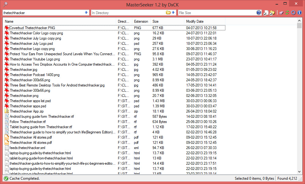 MasterSeeker Is A Decent File Search Tool For Windows