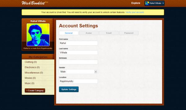 Wishbooklet Profile