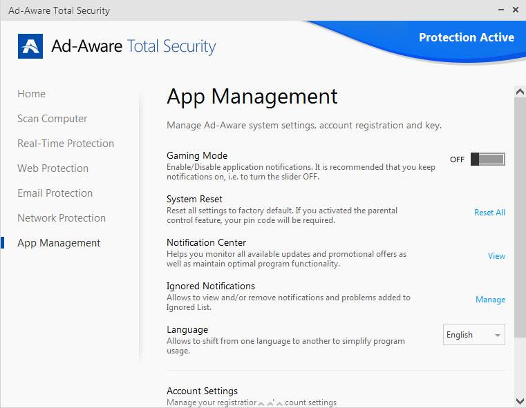 Ad-Aware App Management