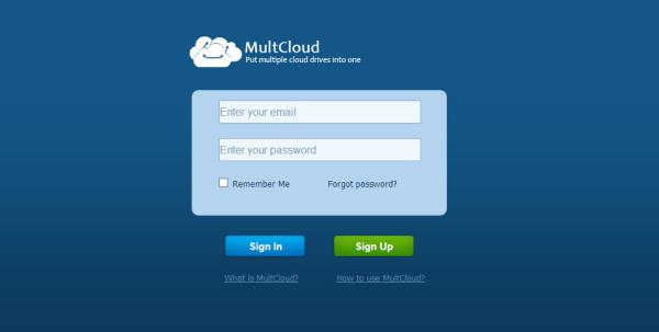Multcloud Signup