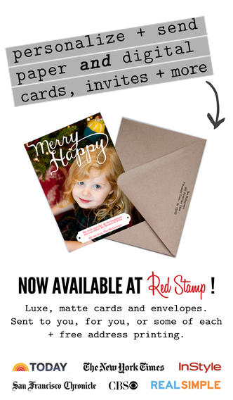 Red Stamp Cards to Create Greeting Cards in iOS