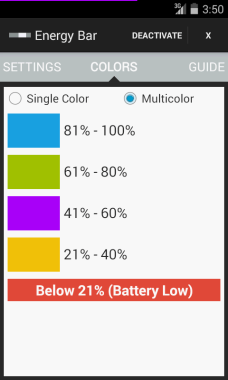 Energy Bar Indicator