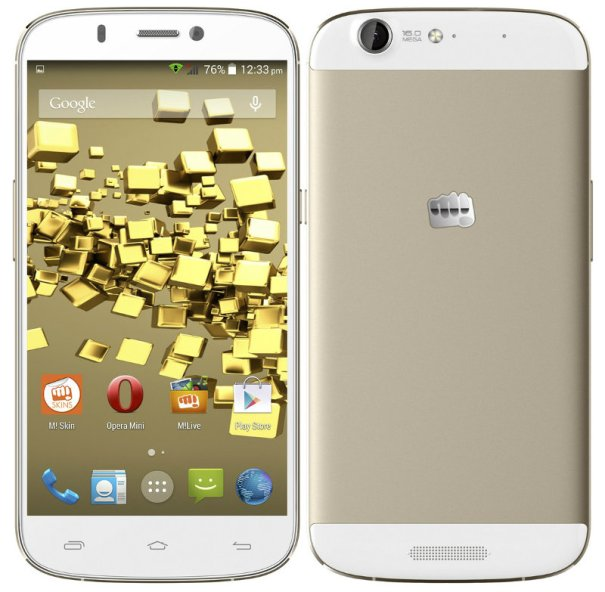 Micromax Canvas Gold A300 Front and Back