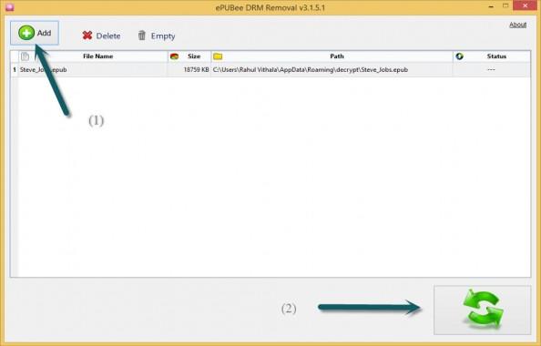 ePUBee DRM Removal Process