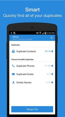 manage google contacts android