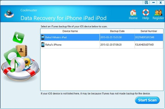 Extract iPhone Backup file