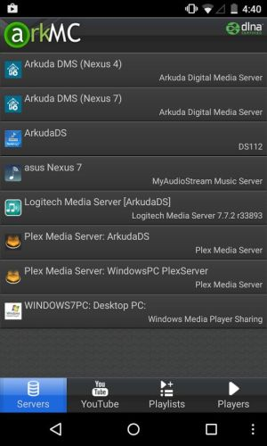 dlna stream from android to pc