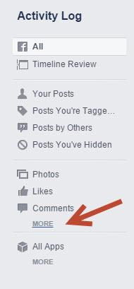 Erasing Facebook History
