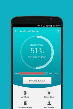 Systweak Android Cleaner User Interface