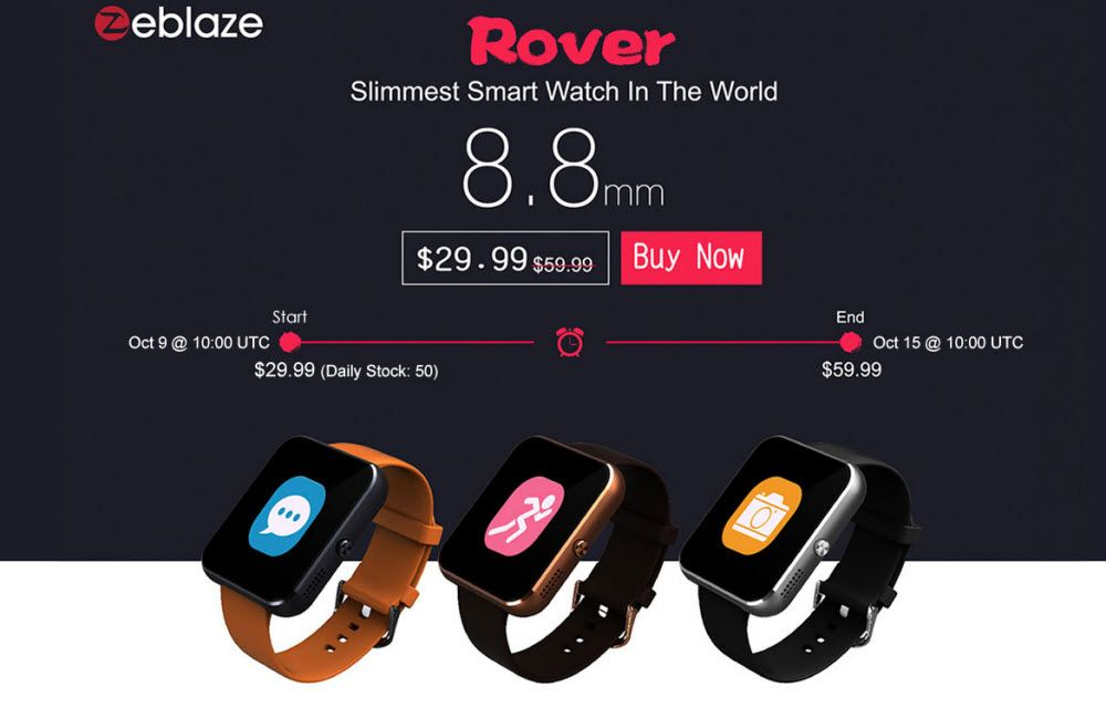 Zeblaze - Rover and Crystal Smartwatches Review and Sale Details