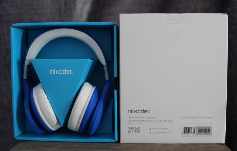 Mixcder Drip Wireless Headphone Box Contents