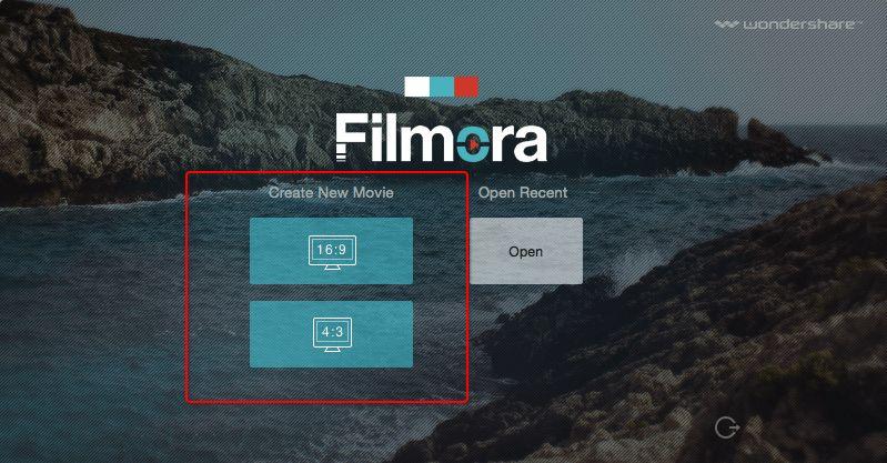 Wondershare Filmora Creating Project