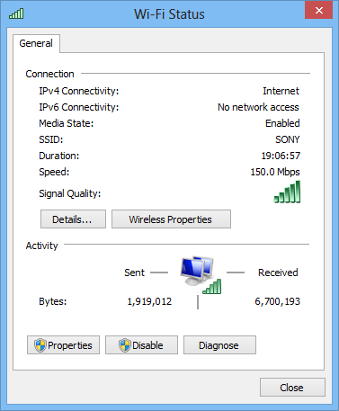 Wifi-status-window