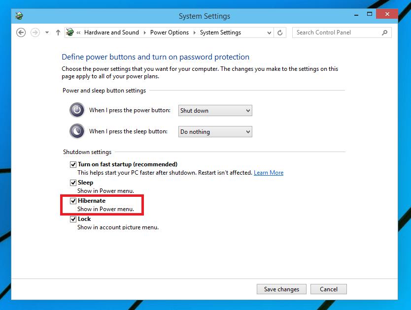 Enable Hibernate in Windows 10 - Step 3