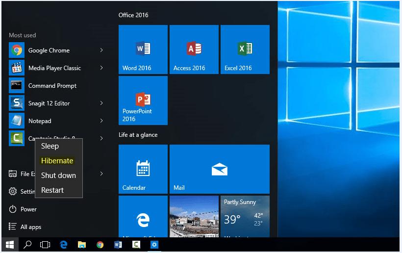 Enable Hibernate in Windows 10 - Step 5