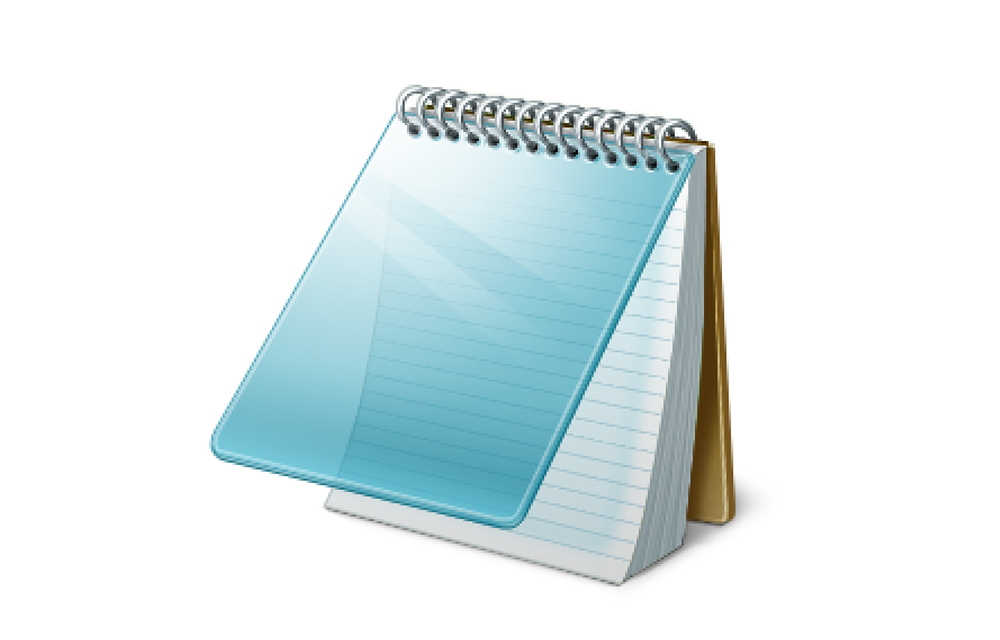 how to open notepad as editor