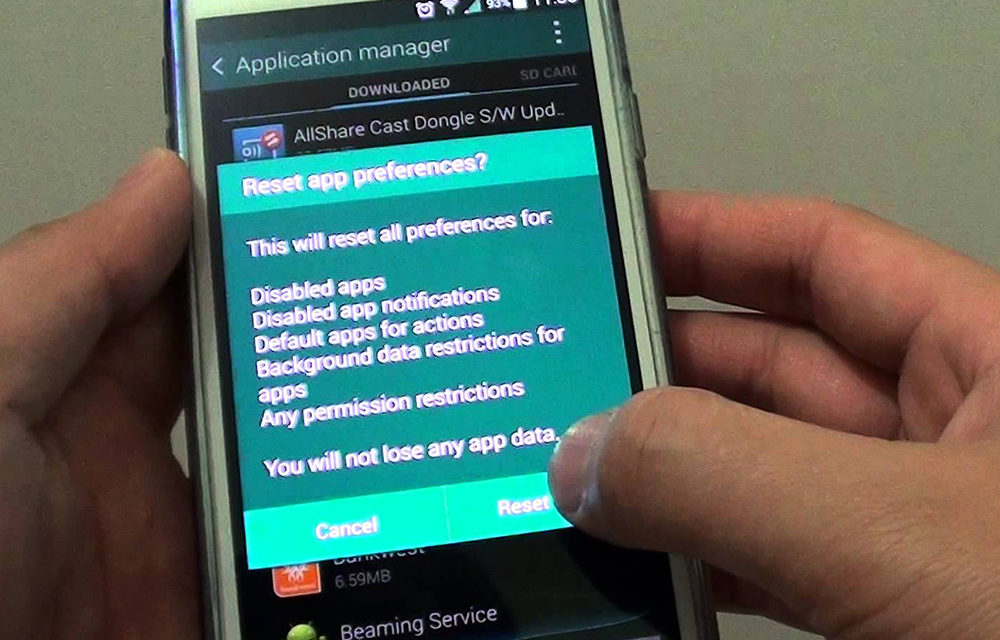 How to Reset App preferences in your Android smartphone