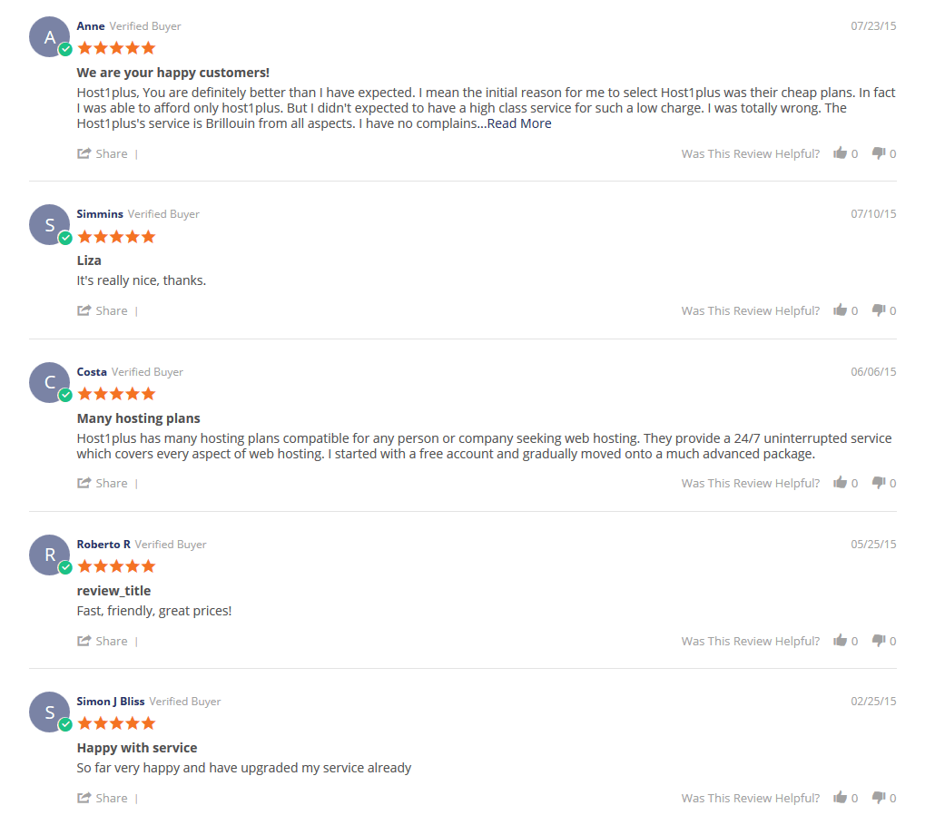 What Users Saying about them