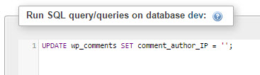 remove-comment-ip-address-execute-query