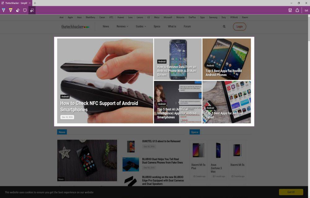 Step 4 To Take Screenshot In Microsoft Edge Browser