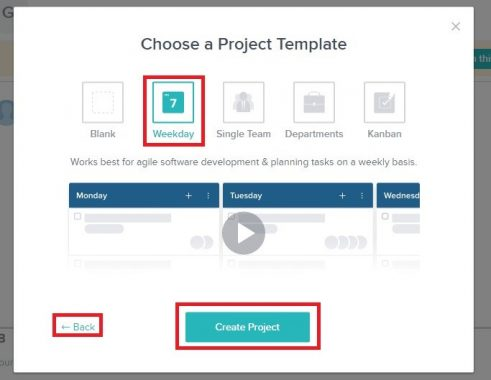 Choose A Project Template