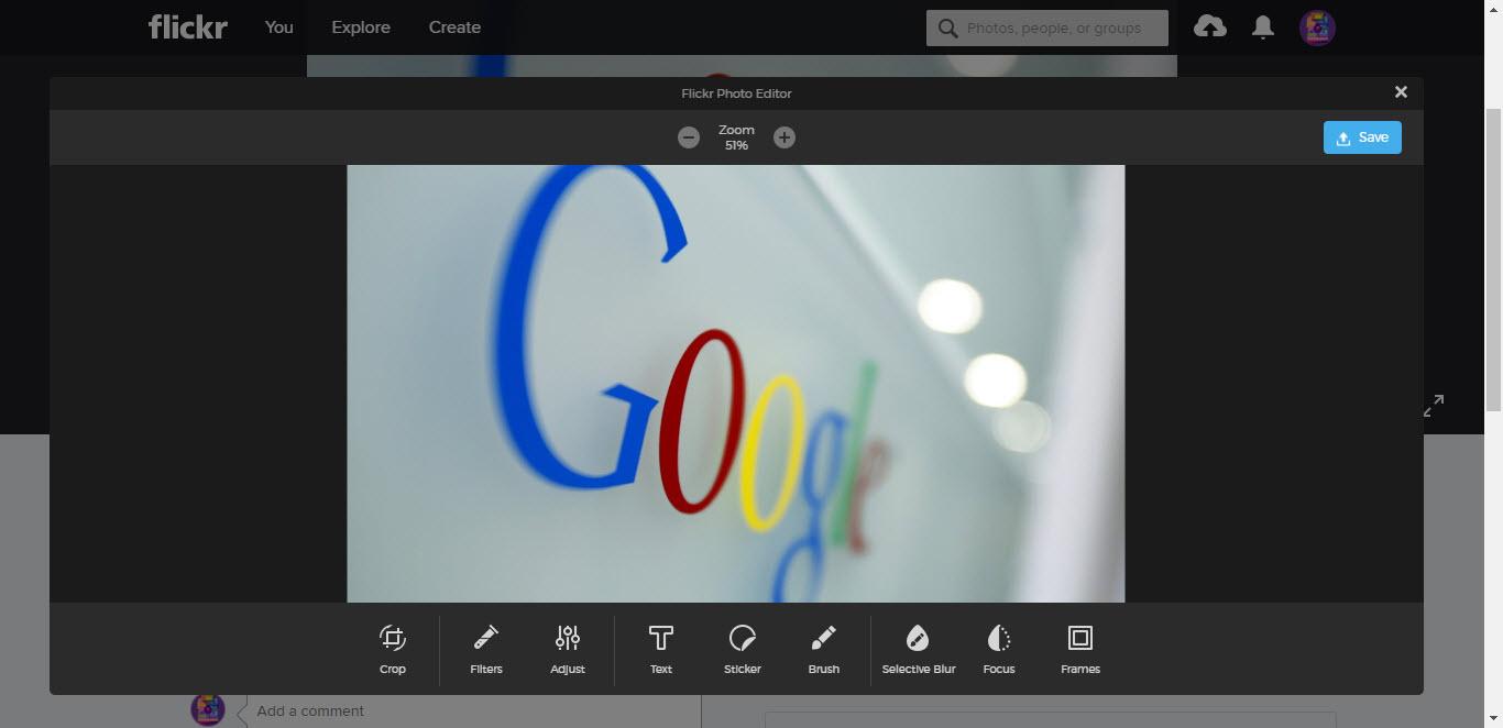 Flickr Photo Editor