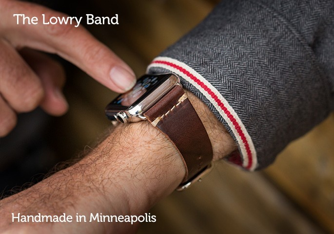 Pad & QuillLowry Leather Band for Apple Watch