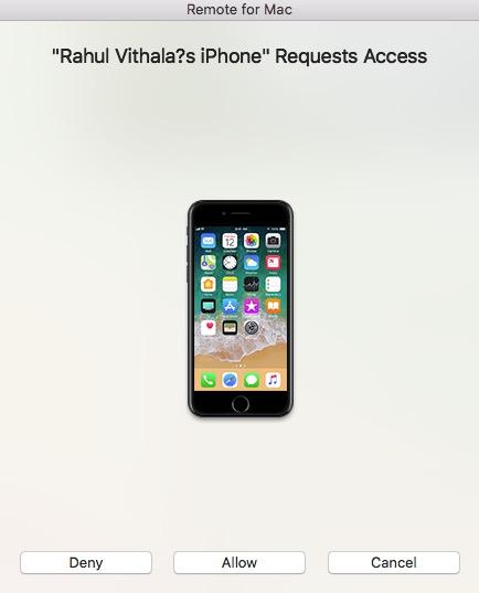 Remote for Mac Request Access