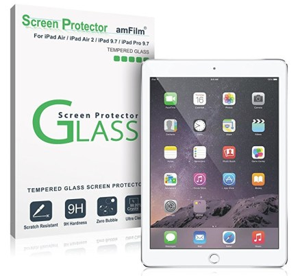 amFilm iPad 9.7 Screen Protector Tempered Glass