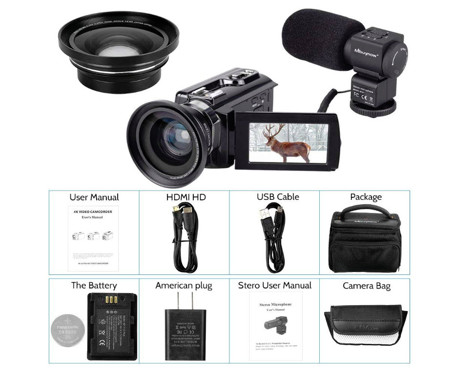 4K Camcorder, Mbuynow Video Camera