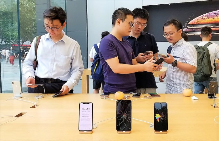 Apple iphone update in china