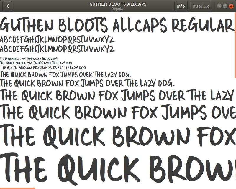 Installing font on Ubuntu