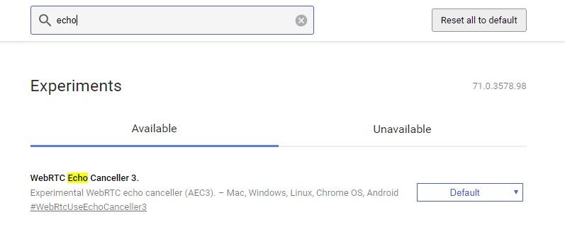 Reducing Echo on Chrome